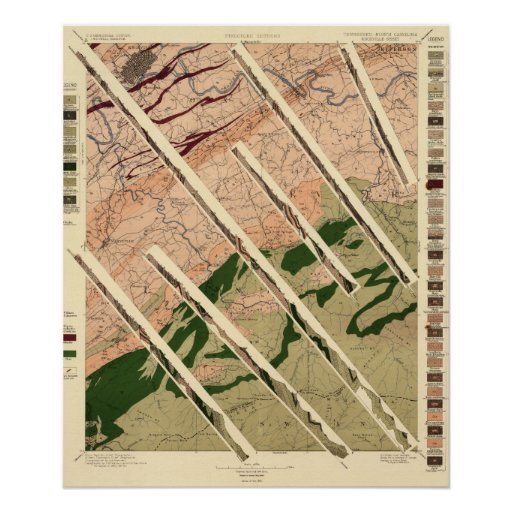 Geological Survey of Tennessee and North Posters