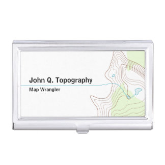 Geologist, Cartographer Topographic Map Business Card Case
