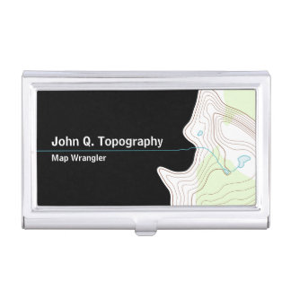 Geologist, Cartographer Topographic Map Business Card Holders