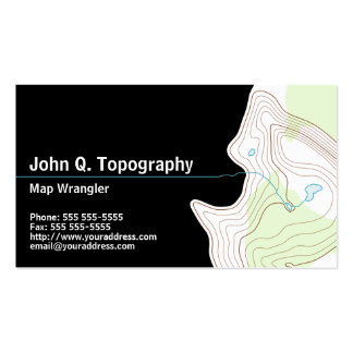 Geologist, Cartographer Topographic Map Personal Pack Of Standard Business Cards