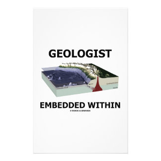 Geologist Embedded Within Subduction Zone Stationery Paper