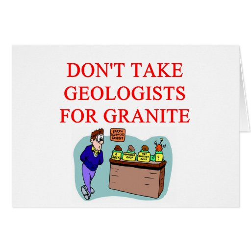 geologist joke greeting card