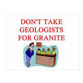 geologist joke postcard