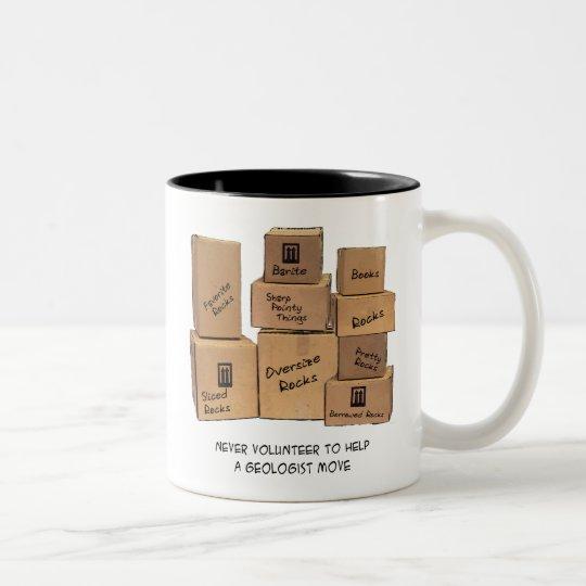 Geologist Moving Humour Two-Tone Coffee Mug