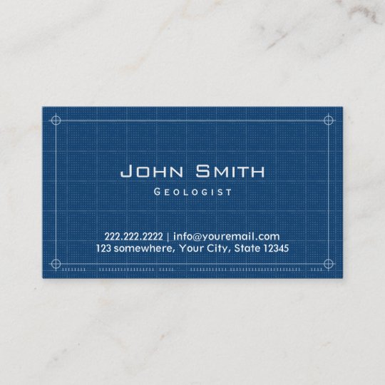 Geologist professional blueprint business card zazzle geologist professional blueprint business card malvernweather Image collections