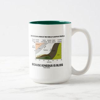 Geologists Happiest People Igneous Is Bliss Two-Tone Coffee Mug