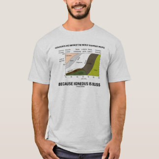 Geologists Happiest People Igneous Is Bliss T-Shirt