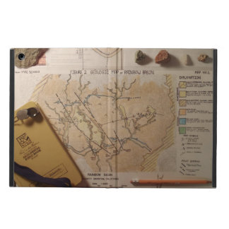 Geologist's Notebook and Map iPad Case