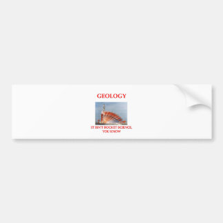 geology car bumper sticker
