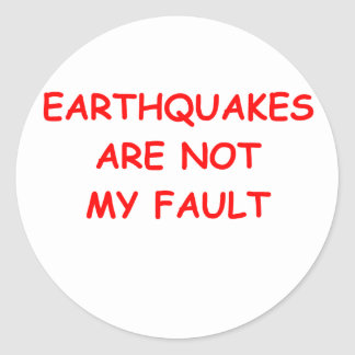 geology classic round sticker
