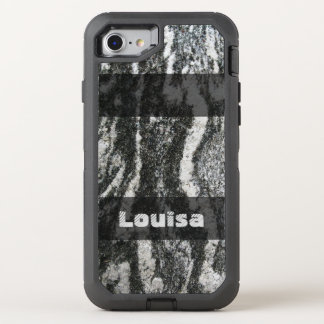 Geology Decorative Feline Rock Texture any Text OtterBox Defender iPhone 8/7 Case