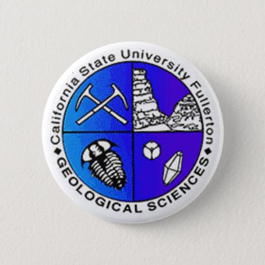 Geology Department Logo 6 Cm Round Badge