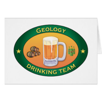 Geology Drinking Team Greeting Cards