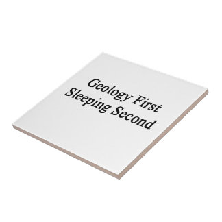 Geology First Sleeping Second Small Square Tile