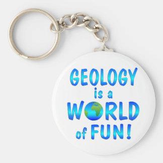 Geology Fun Basic Round Button Key Ring