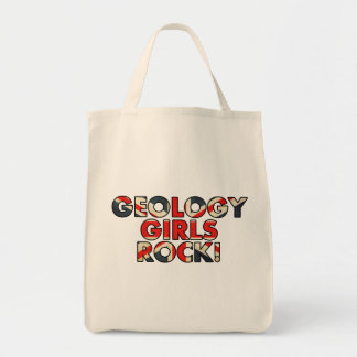 Geology Girls Rock!  (UK Flag) Tote Bag