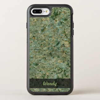 Geology Green Rock Texture Photo OtterBox Symmetry iPhone 7 Plus Case