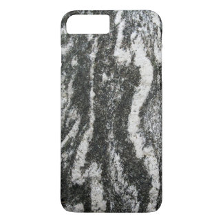 Geology Grey Rock with Feline Pattern iPhone 7 Plus Case