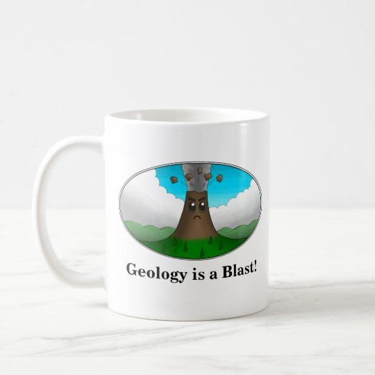 Geology is a Blast! Cartoon Volcano Coffee Mug