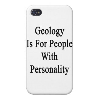 Geology Is For People With Personality iPhone 4/4S Covers