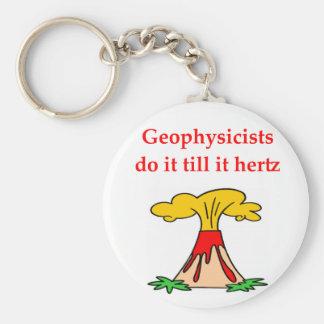 geology joke basic round button key ring