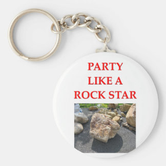 geology joke key ring