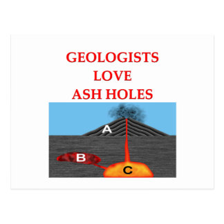 geology joke postcard