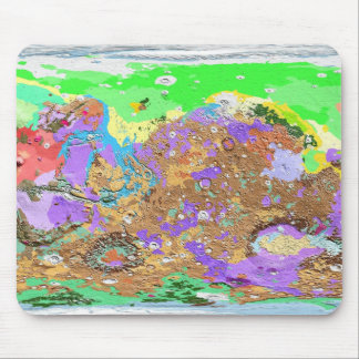 Geology Map of Mars Mousepad