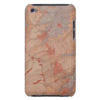Geology Map, Yellowstone National Part, Wyoming 2 Case-Mate iPod Touch Case