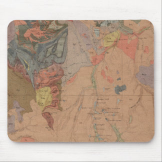 Geology Map, Yellowstone National Part, Wyoming Mouse Pad