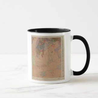 Geology Map, Yellowstone National Part, Wyoming Mug