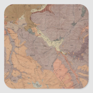 Geology Map, Yellowstone National Part, Wyoming Sticker