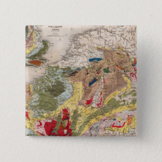 Geology of Europe 15 Cm Square Badge