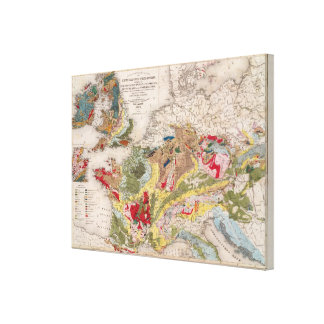 Geology of Europe Canvas Print