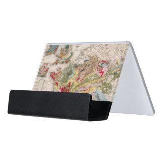 Geology of Europe Desk Business Card Holder