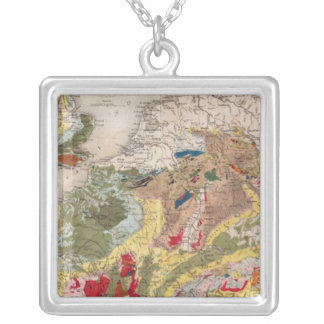 Geology of Europe Silver Plated Necklace