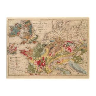 Geology of Europe Wood Wall Art