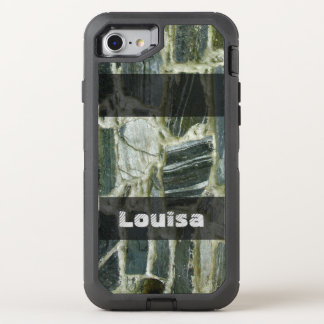 Geology Old Stone Wall Structure any Text OtterBox Defender iPhone 8/7 Case