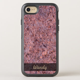 Geology Pink Rock Texture Photo OtterBox Symmetry iPhone 8/7 Case
