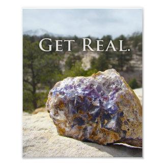 Geology Quote Purple Fluorite Simple Art Print Photo Art