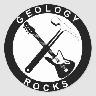 Geology Rocks Adhesive S Classic Round Sticker