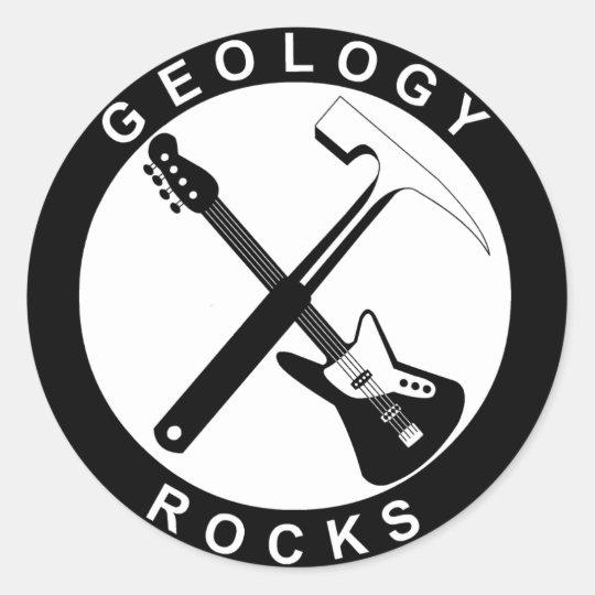 Geology Rocks Adhesive S Classic Round Sticker