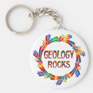Geology Rocks Basic Round Button Key Ring
