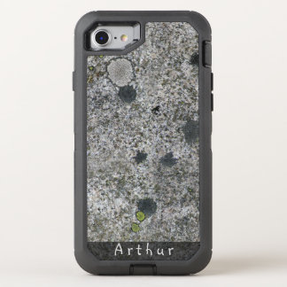 Geology Rough Granite Rock Texture Name OtterBox Defender iPhone 8/7 Case