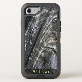 Geology Rough Rock Texture Name OtterBox Defender iPhone 7 Case