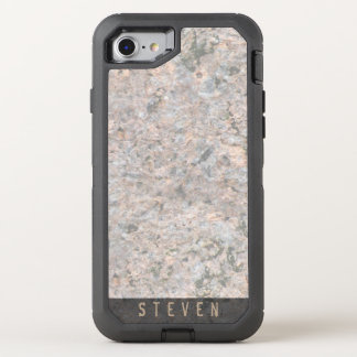 Geology Rough Rock Texture Name OtterBox Defender iPhone 8/7 Case