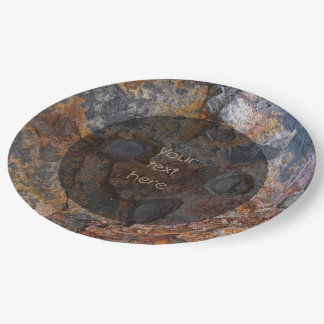Geology Sedementary Rock Surface any Text Paper Plate
