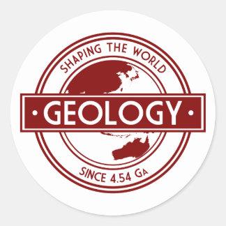 Geology- Shaping the World Logo (Asia/Australia) Classic Round Sticker