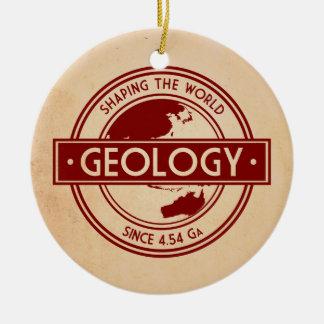 Geology- Shaping the World Logo (Asia/Australia) Round Ceramic Decoration