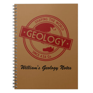 Geology- Shaping the World Logo (Asia/Australia) Spiral Notebook